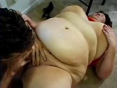 Two busty plumpers share huge dildo in bedroom bbw sex
